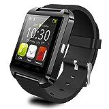 ブルートウ-ス スマートウォッチ、JIAZY 健康管理 ウォッチ 長座注意 歩数計 腕時計 通話機能搭載 Android/IOS対応 (ブラック)