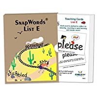 Child1st HB-SWE1-A1 SnapWords Teaching Cards List E [並行輸入品]