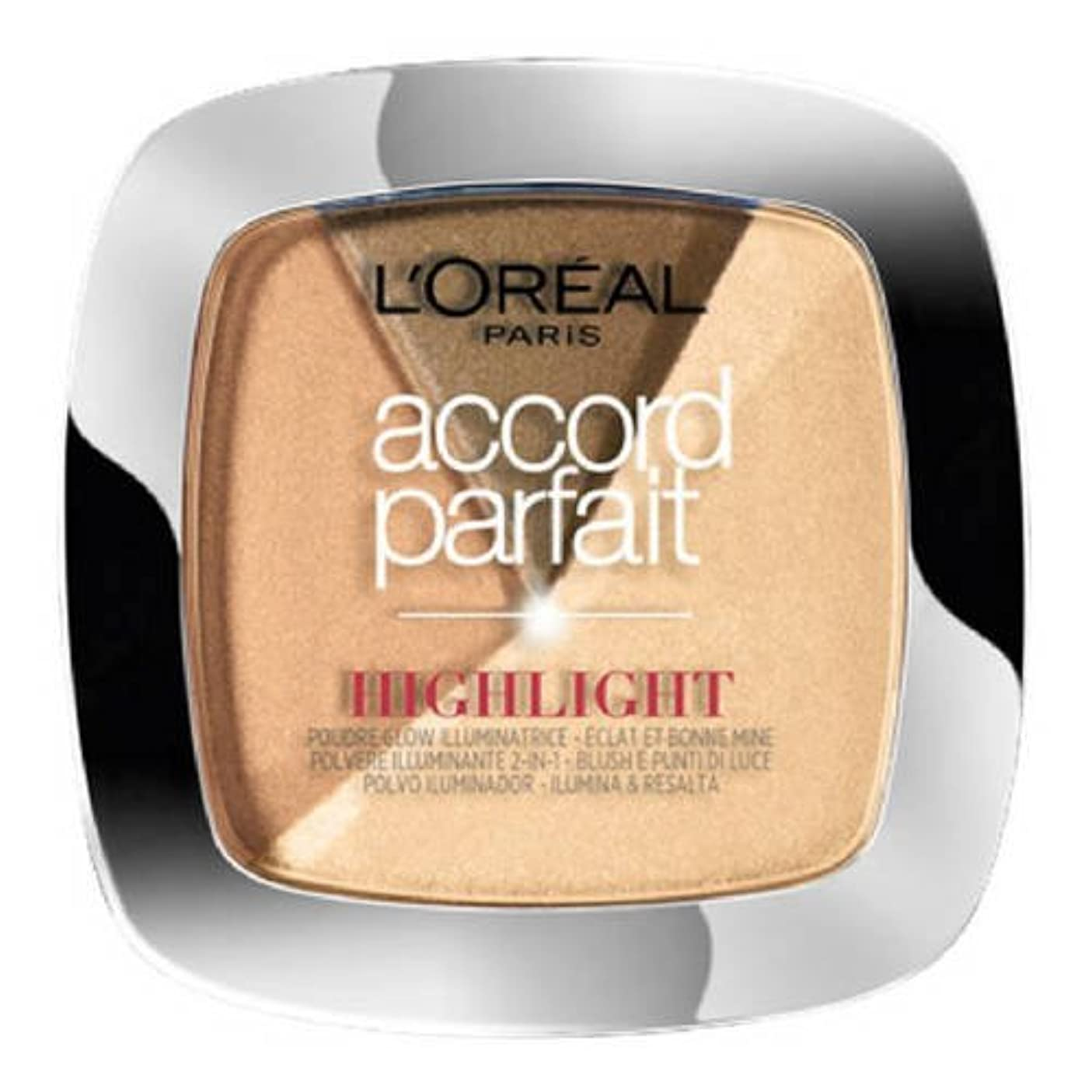 第四美徳助言L 'Oréal Paris - ACCORD PARFAIT Highlight Enlumineur Poudre - 102 Dore