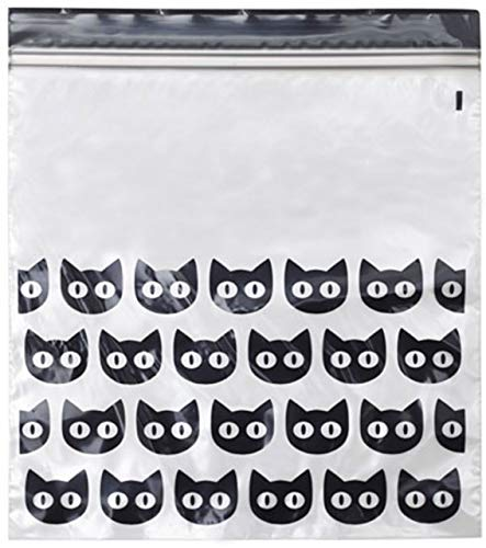 IKEA/イケア 【2個セット】ハロウィン HOSTLOV/ホストローヴ : プラスチック袋(ジップロック)15枚セット ブラック(404.000.15)×2個(合計30枚)