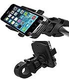 Shop XJ 自転車 オートバイ 用 スマホ 携帯 ホルダー(黒)