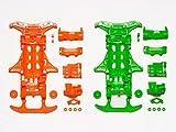 タミヤ ミニ四駆特別企画商品 VS 蛍光カラーシャーシセット オレンジ・グリーン 95355