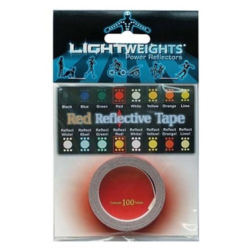 障害血色の良い丁寧ライトウェイツパワーリフレクター TAPE 100 レッド