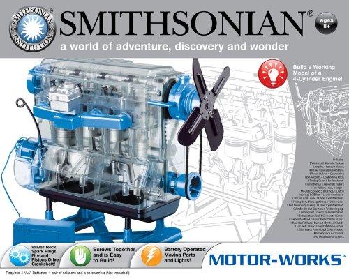 エンジン模型 スケルトンエンジンプラモデル Smithonian スミソニアン...