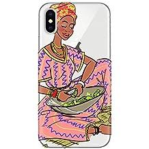 DIYthinker Black Women Child Totems African Aboriginal Apple iPhone X Phone Case Flexible TPU Soft Slim Transparent Cover Gift Multicolor