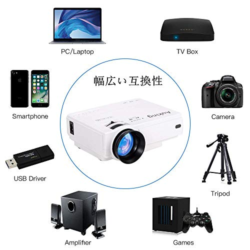 『AuKing 小型プロジェクター 2800ルーメン1080PフルHD対応 HDMIケーブル付属 台形補正』の3枚目の画像