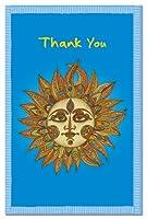 tree-free Greetings 94619ECOnotes Thank Youカードセット、4x 6インチ、12カウントカード封筒付き、Sunny Thanks