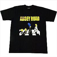 【並行輸入品】The Simpsons/ザ・シンプソンズ SIMPSONS FAMILY/シンプソンファミリー AbbeyRoad アビイロード パロディ プリントTシャツ ブラック Sサイズ Mサイズ Lサイズ 男女兼用