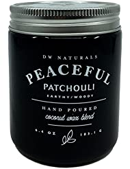 DW Naturals Peaceful Patchouli Scented Candle Coconutワックスブレンド