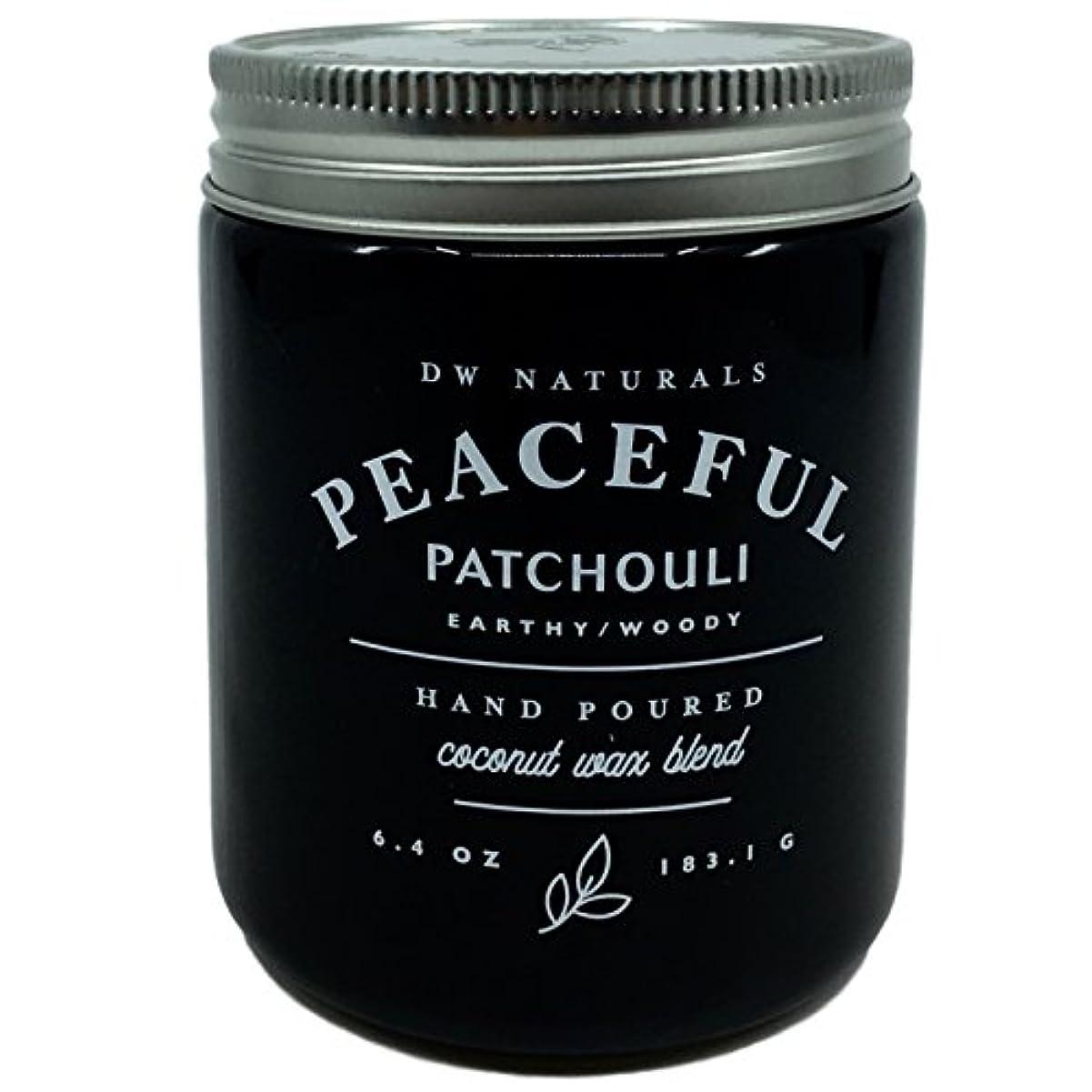 聴覚障害者銃血DW Naturals Peaceful Patchouli Scented Candle Coconutワックスブレンド