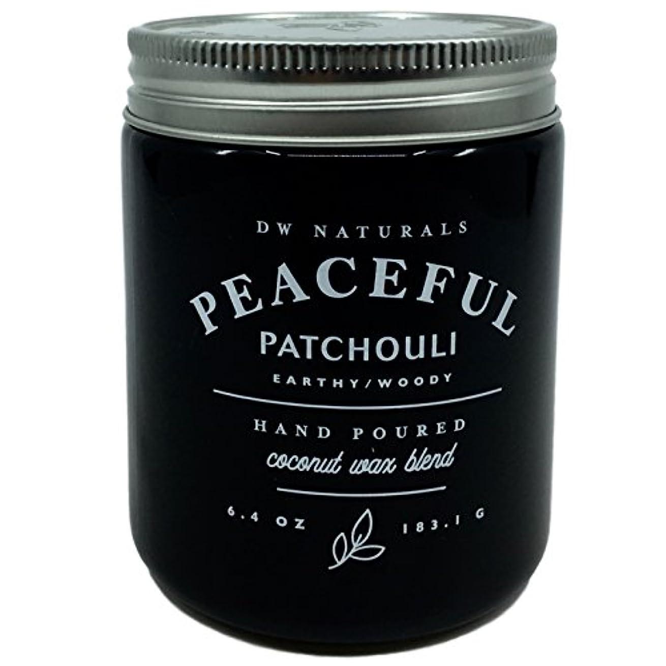 ロシア画像十億DW Naturals Peaceful Patchouli Scented Candle Coconutワックスブレンド