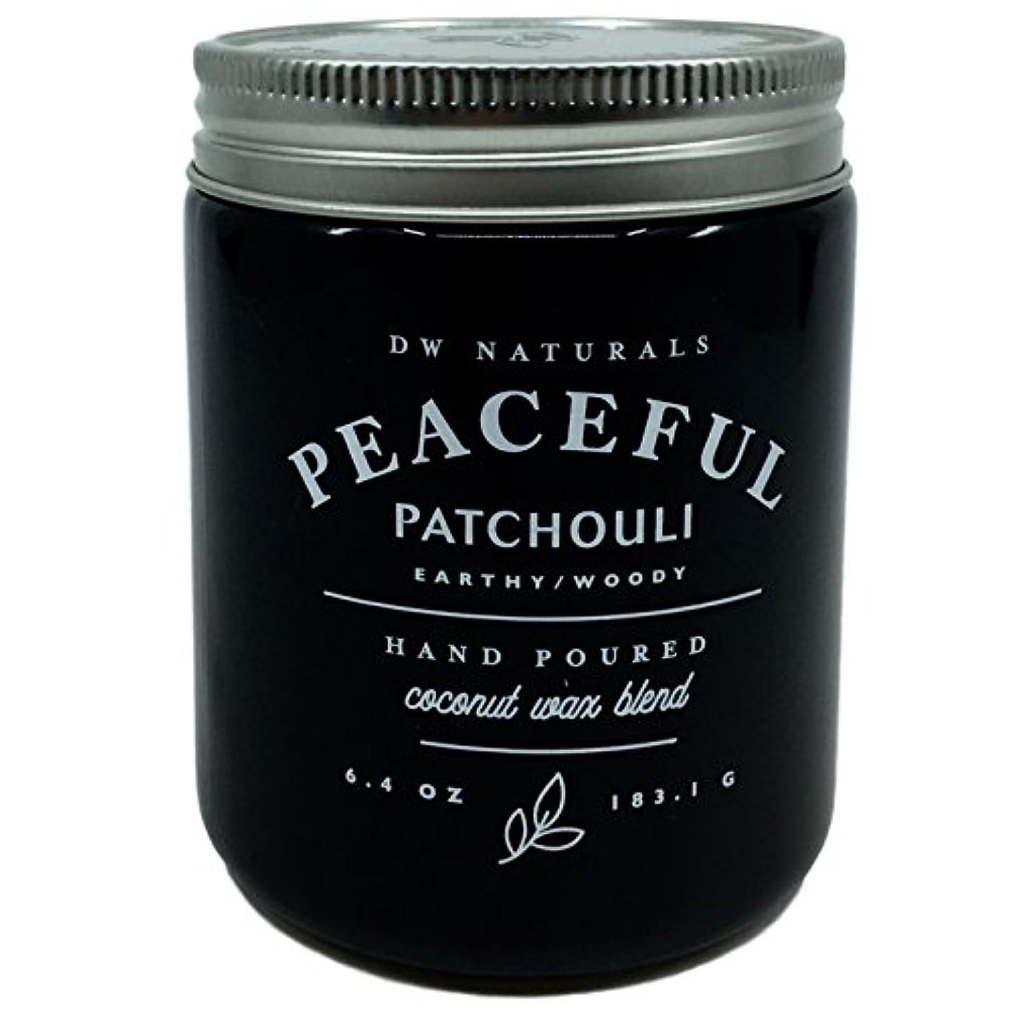 間違っている適性主流DW Naturals Peaceful Patchouli Scented Candle Coconutワックスブレンド