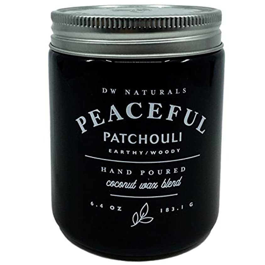 ステージ密輸台風DW Naturals Peaceful Patchouli Scented Candle Coconutワックスブレンド