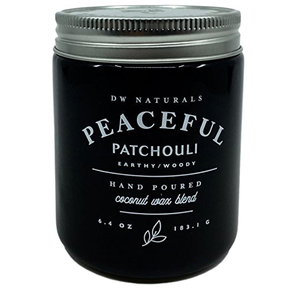 パトワ瞑想過言DW Naturals Peaceful Patchouli Scented Candle Coconutワックスブレンド