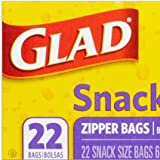 Glad Snack Collation Zipper Bags - 22 Count