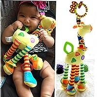 melbee Plush幼児赤ちゃん開発ソフトキリン動物Handbells Rattlesハンドルおもちゃホット販売でTeether Baby Toy