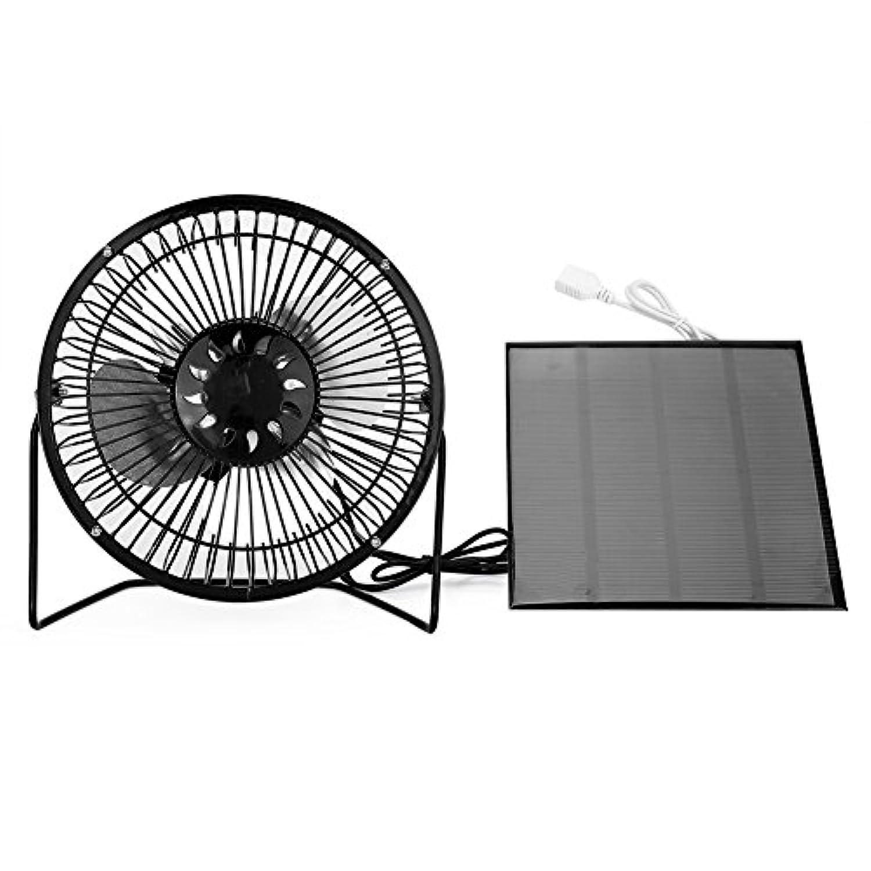 TOPINCN ミニファン 扇風機 卓上扇風機 USBソーラーパネル ミニポータブルファン 冷房用 ホーム 旅行 釣りアウトドア用扇風機
