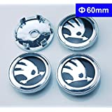 4pcs W208 60mm Car Emblem Badge Wheel Hub Caps Centre Cover Skoda Octavia Fabia Superb Rapid Yeti