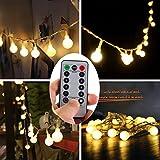 イルミネーションライト led イルミネーション 電池式 クリスマス 飾りライト 点滅ライト ワイヤーライト 8パタンで切替可 防水 ボール式 (ウォームホワイト)