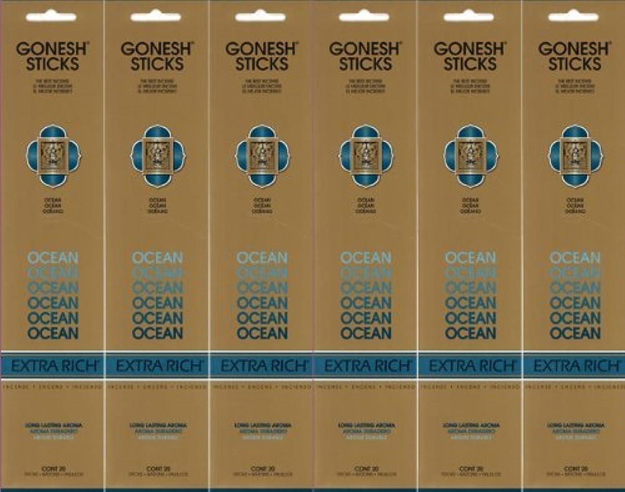 日常的にクロス荒野GONESH ガーネッシュ OCEAN オーシャン スティック 20本入り X 6パック (120本)