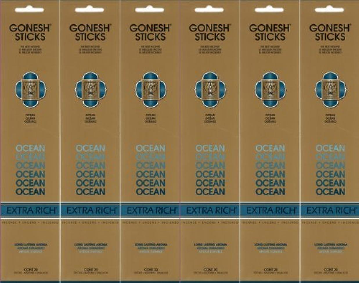 つかの間バウンス視聴者GONESH ガーネッシュ OCEAN オーシャン スティック 20本入り X 6パック (120本)