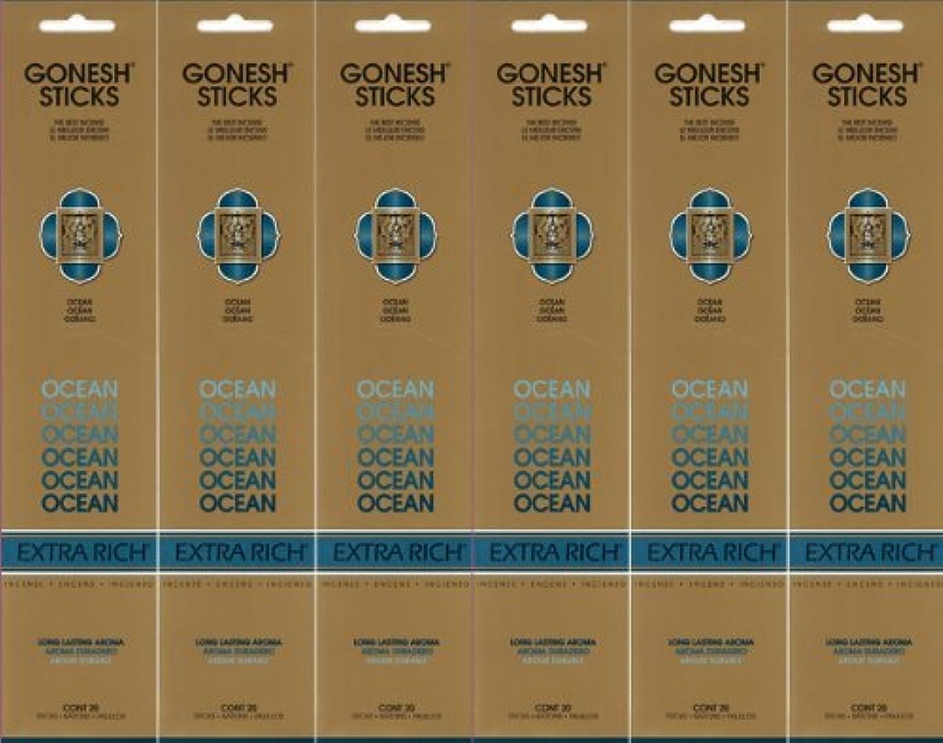 周り癌ジャンプGONESH ガーネッシュ OCEAN オーシャン スティック 20本入り X 6パック (120本)