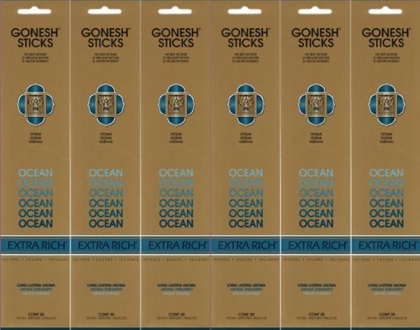 独立機関内なるGONESH ガーネッシュ OCEAN オーシャン スティック 20本入り X 6パック (120本)