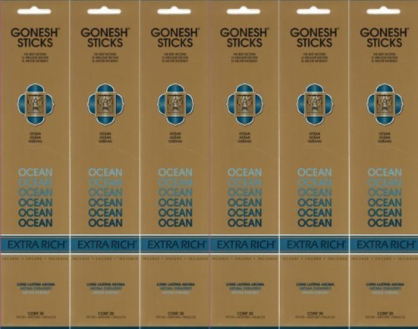 バーゲン復讐電報GONESH ガーネッシュ OCEAN オーシャン スティック 20本入り X 6パック (120本)