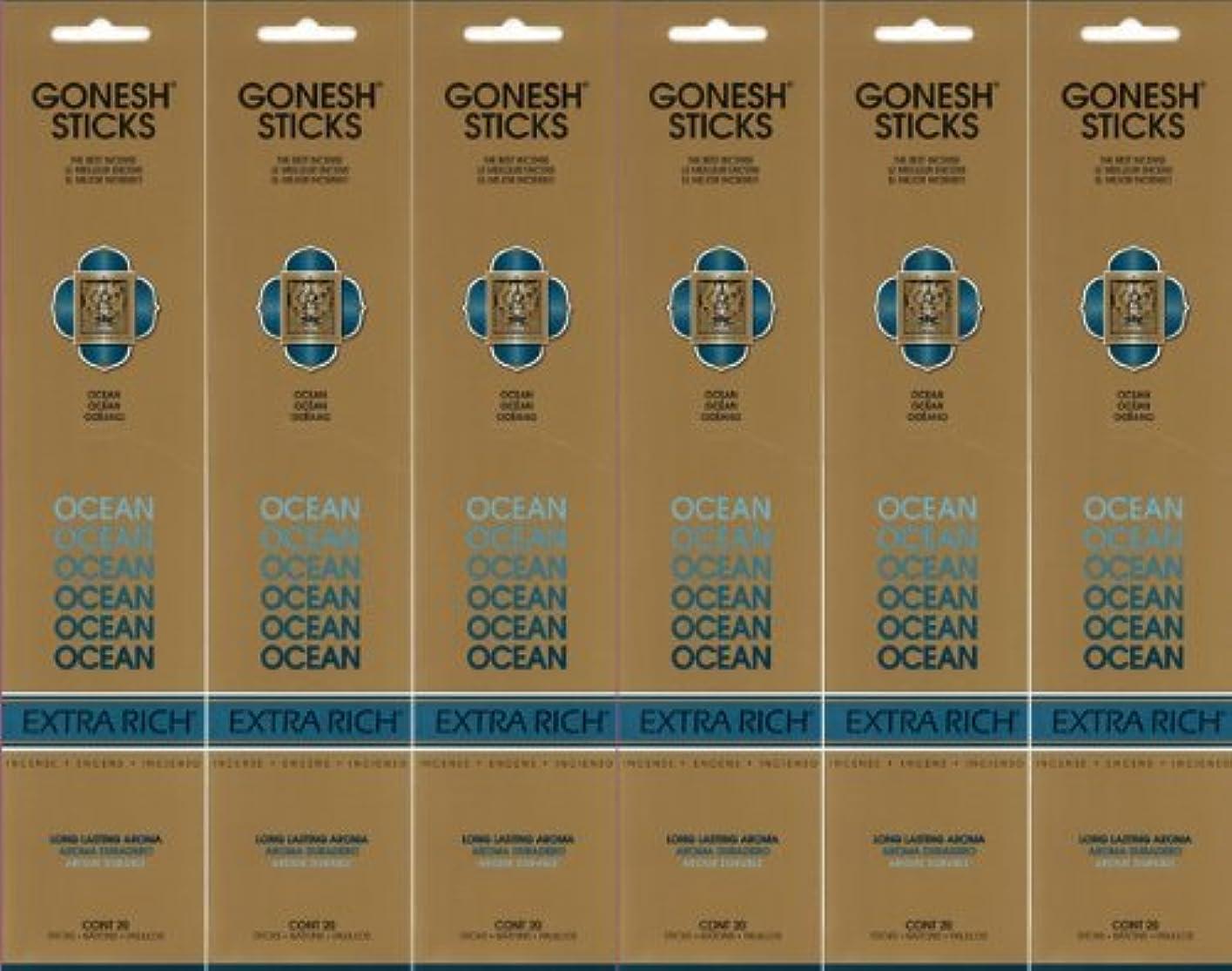 GONESH ガーネッシュ OCEAN オーシャン スティック 20本入り X 6パック (120本)