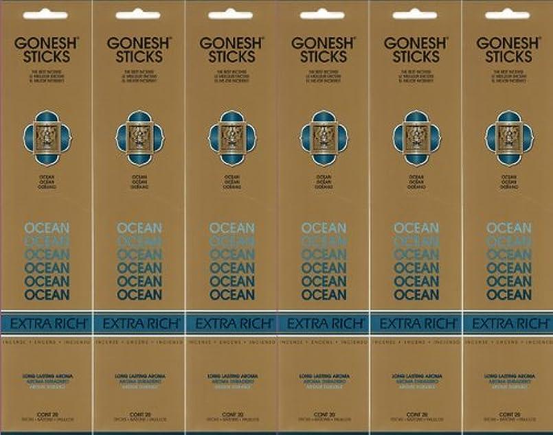 タイプライター宇宙飛行士香りGONESH ガーネッシュ OCEAN オーシャン スティック 20本入り X 6パック (120本)