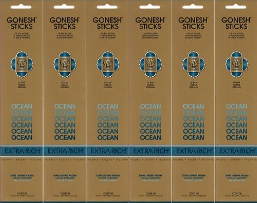 底文字鷲GONESH ガーネッシュ OCEAN オーシャン スティック 20本入り X 6パック (120本)
