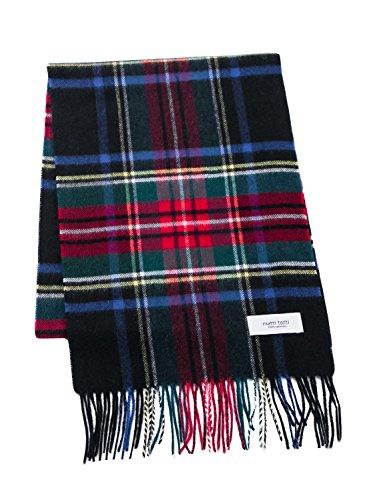 Black × Red F plaid cashmere scarf ladies fringe cashmere stole large-format thick 100 women Long B0611B2-6