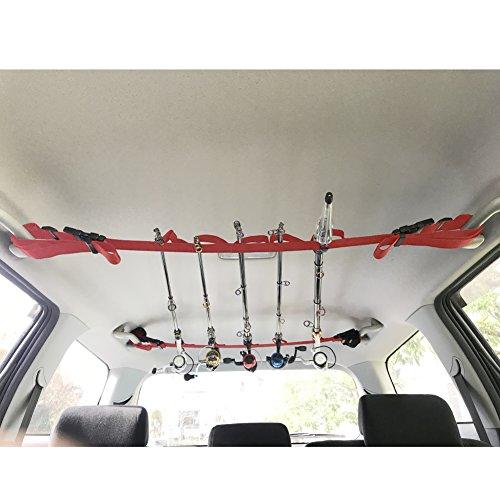 【オルルド釣具】 車載用ロッドキャリー 「キャリルドA」 ロッドキーパーベルト・ロッドホルダーに/ルアーロッド等リールを付けたままの釣竿の車載・収納に/最大5本まで対応 レッド qb500081b01n0