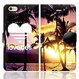 [iPhone6S 6 兼用 手帳型 ケース カバー] LOVEDES ハワイアン Q
