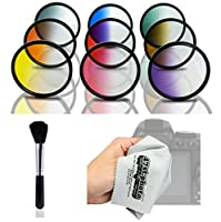 Opteka HD Graduated Color Filter Kit for Nikon d4s , d4 , d3 X , DF , d810 , d800 , d750 , d610 , d600 , d7200、d7100、d5500、d5300、d5200、d3300、d3200デジタル一眼レフカメラ( Fits 52 mm and 67 mmスレッド)