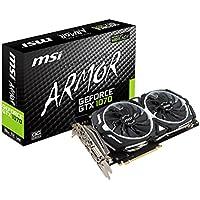 MSI ARMOR 2X デュアルファン搭載 GeForce GTX 1070 グラフィックボード GEFORCE GTX 1070 ARMOR 8G OC
