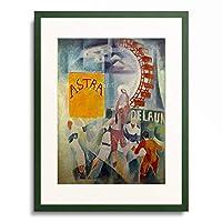 ロベール・ドローネー Robert Delaunay 「L'equipe de Cardiff」 額装アート作品