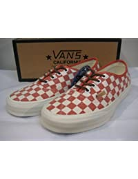Vans バンズ Authentic CA (Checker) Mango/White 23cm