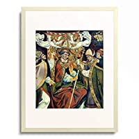 Jan Pollak 「Crowning of the bishop Arsacius. (High altar wing)」 額装アート作品