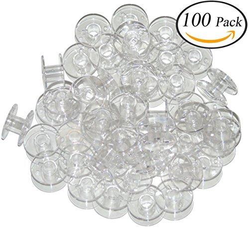 Ceeyali 家庭用ミシン用 ボビン(11.5mm) ブラザー、ジャノメ、JUKI、TOYOTA、シンガー共通 100個入