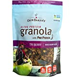 Erin Baker's Ultra Protein Granola, Tri Berry, Mixed Berries, Gluten-Free, Vegan, Non-GMO, Cereal, 12-ounce bag