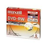 maxell 録画用 DVD-RW 120分 2倍速対応 インクジェットプリンタ対応ホワイト(ワイド印刷) 5枚 5mmケース入 DW120PLWP.5S