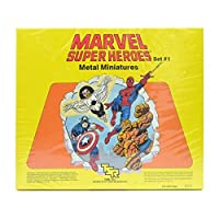 MARVEL SUPER HEROES SET �1 UNPAINTED METAL MINIATURES