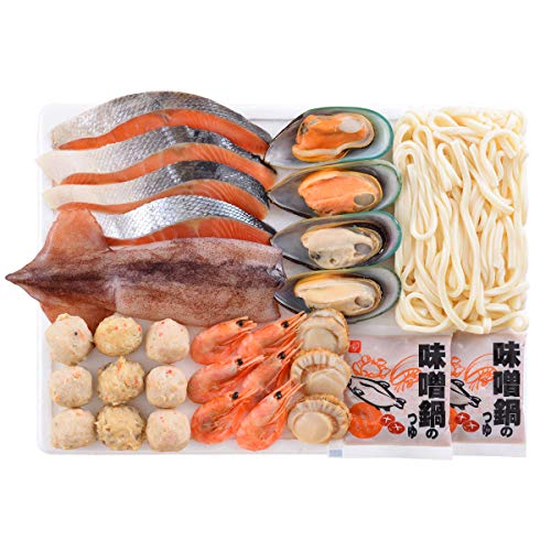 北海道 石狩鍋 セット 〔海鮮5種、つみれ3種、うどん、味噌鍋のタレ〕 北海道 お取り寄せ鍋