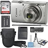 Canon PowerShot ELPH 180デジタルカメラ+ 16GB SDHCメモリカード+ミニテーブル三脚+保護用カメラケースデラックスクリーニングバンドル