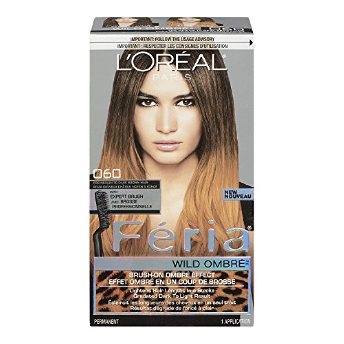 一貫した万一に備えて誰がL'Oreal Feria Wild Ombre Hair Color, O60 Medium to Dark Brown by L'Oreal Paris Hair Color [並行輸入品]
