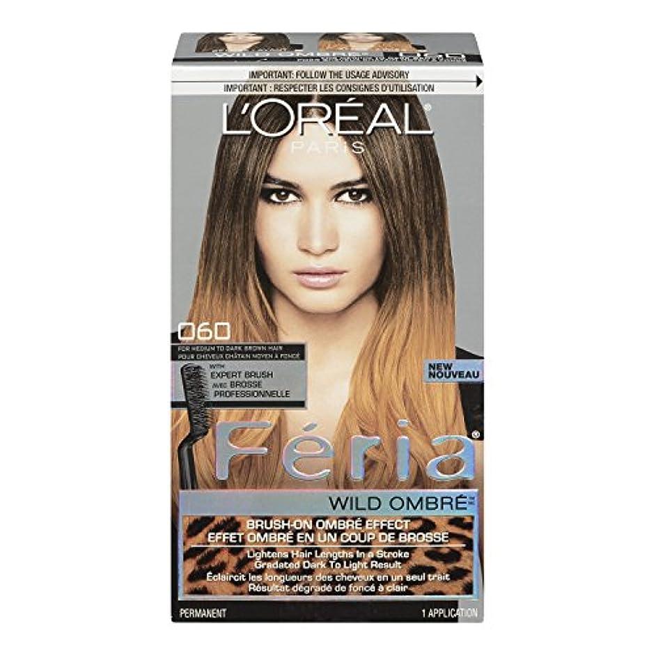 最大の一定あごL'Oreal Feria Wild Ombre Hair Color, O60 Medium to Dark Brown by L'Oreal Paris Hair Color [並行輸入品]