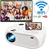 "Wireless WiFi Projector 3800L,WEILIANTE Upgraded Mini Video Projector, Support 50,000Hrs, 200"" Display, Full HD 1080P, Compatible with Android, iOS, Video Games, TV Stick, Laptops"