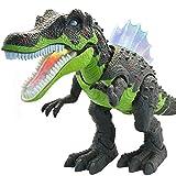 電気恐竜の相互おもちゃ:ゲーム、R/Cのリモート・コントロールおもちゃのための話しそして歩く恐竜及び恐竜,Green