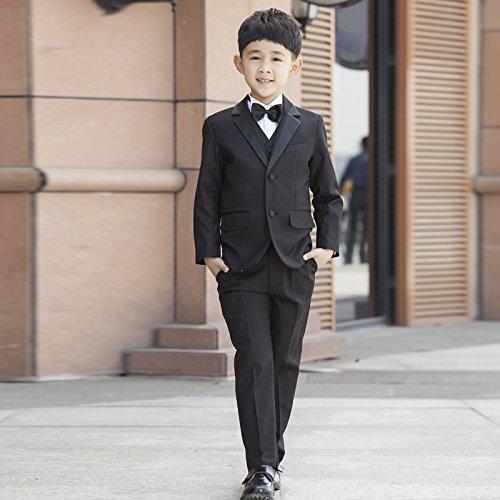 男の子スーツ7点セット発表会・結婚式・卒園式・入学式 子供服 フォーマル タキシード  キッズ 男児 七五三  ボーイズ服 (150サイズ)